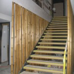 Metall Stein Bambus Treppe