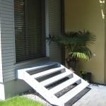 Metall-Gitterrost-Treppe